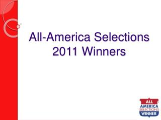 All-America Selections 2011 Winners