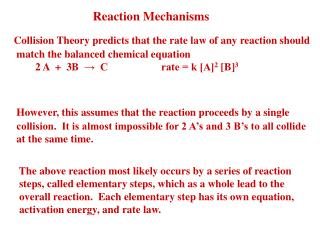 Reaction Mechanisms