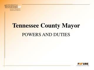 Tennessee County Mayor