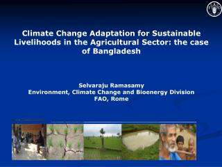 Future Climate Change:  downscaling scenarios