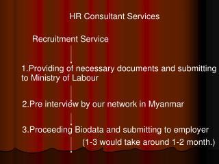 HR Consultant Services