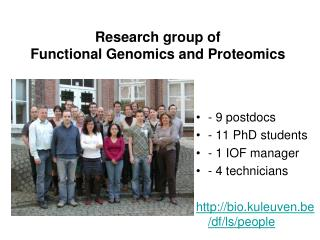 Research group of Functional Genomics and Proteomics