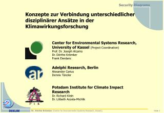 Dr. D rthe Kr mker Center for Environmental Systems Research ...