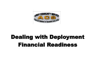 Dealing with Deployment Financial Readiness