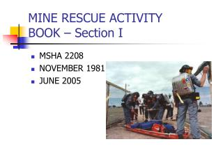 MINE RESCUE ACTIVITY  BOOK   Section I