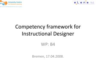 Competency framework for Instructional Designer