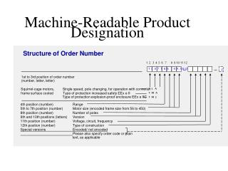 Machine-Readable Product Designation