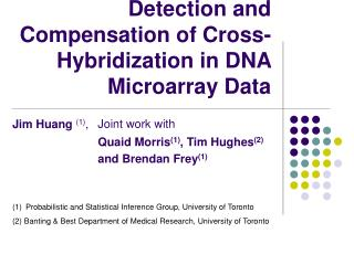 Detection and Compensation of Cross-Hybridization in DNA Microarray Data