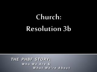 Church: Resolution 3b