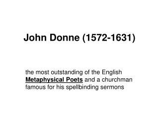 John Donne (1572-1631)