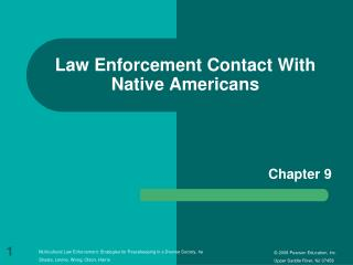 Law Enforcement Contact With Native Americans