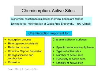 Chemisorption: Active Sites