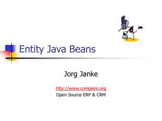 Entity Java Beans