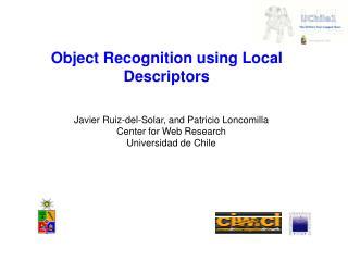 Object Recognition using Local Descriptors