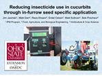 Reducing insecticide use in cucurbits through in-furrow seed specific application