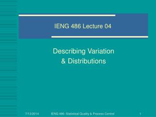IENG 486 Lecture 04