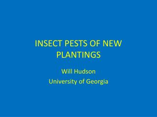 INSECT  PESTS OF NEW PLANTINGS