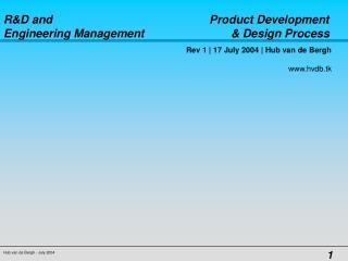 Rev 1 | 17 July 2004 | Hub van de Bergh                                                www.hvdb.tk