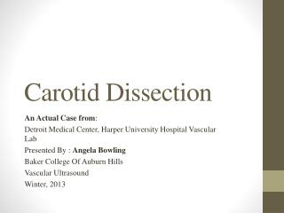 Carotid Dissection