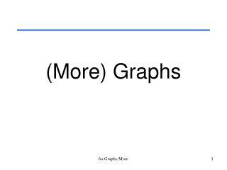 (More) Graphs