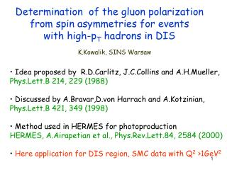 Determination of  the gluon polarization  from spin asymmetries for events  with high-p T  hadrons in DIS
