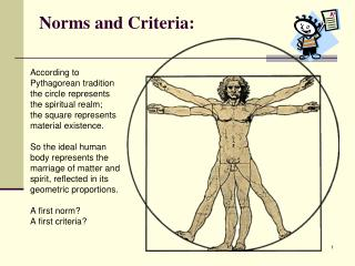 Norms and Criteria:
