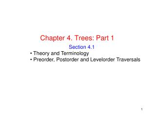 Chapter 4. Trees: Part 1