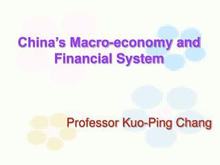 Professor Kuo-Ping Chang