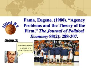 "Fama, Eugene. (1980). ""Agency Problems and the Theory of the Firm,""  The Journal of Political Economy  88(2): 288-307."