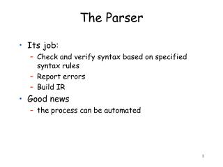 The Parser