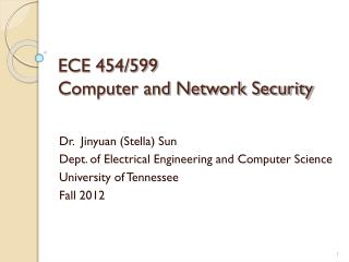 ECE 454/599  Computer and Network Security