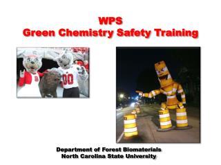 WPS  Green Chemistry Safety Training