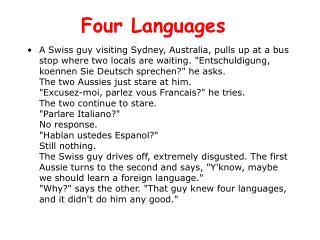 Four Languages
