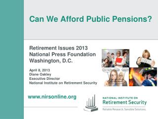 Can We Afford Public Pensions?