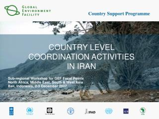 COUNTRY LEVEL COORDINATION ACTIVITIES IN IRAN