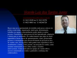 Curriculum Vicente Luiz dos Santos Junior