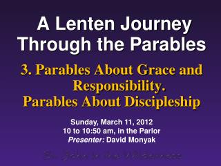 A Lenten Journey Through the Parables