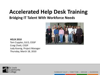 Accelerated Help Desk Training  Bridging IT Talent With Workforce Needs