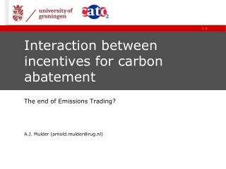 Interaction between incentives for carbon abatement