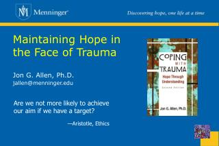 Maintaining Hope in the Face of Trauma