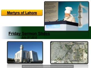 Friday Sermon Slides July 2 nd  2010