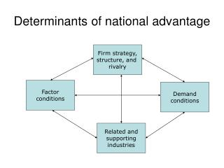 Determinants of national advantage