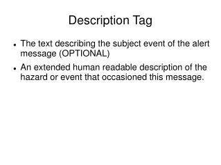 Description Tag