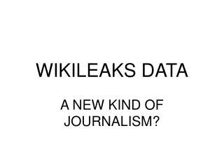 WIKILEAKS DATA