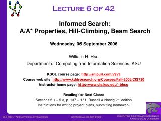 CIS730-Lecture-05-20060901