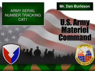 ARMY SERIAL NUMBER TRACKING CAT1
