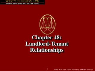 Chapter 48: Landlord-Tenant  Relationships