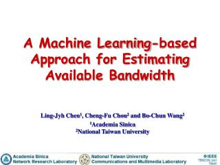 A Machine Learning-based Approach for Estimating  Available Bandwidth