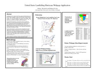 United States Landfalling Hurricane Webpage Application