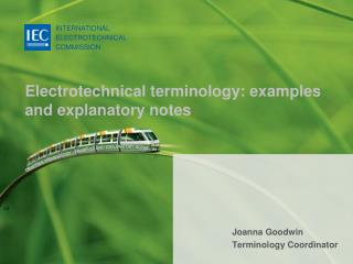 Electrotechnical terminology: examples and explanatory notes